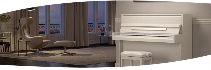 C. Bechstein Klavier im Wohnzimmer